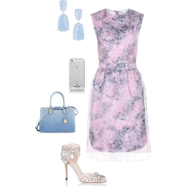 A fashion look from February 2015 featuring Carven dresses, Klub Nico sandals and Henri Bendel handbags. Browse and shop related looks.
