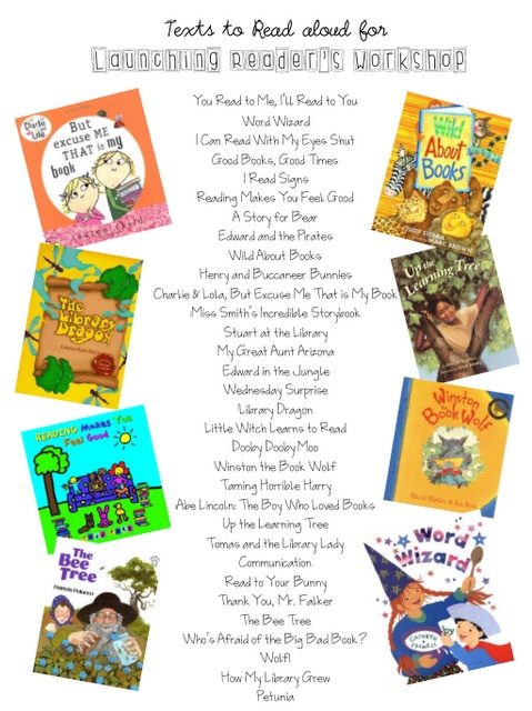 list of books to launch Reader's Workshop...all reading related