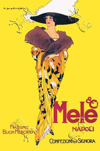 dudovich art | Lady in Yellow Poster by Marcello Dudovich at Barewalls.com #vintage #posters