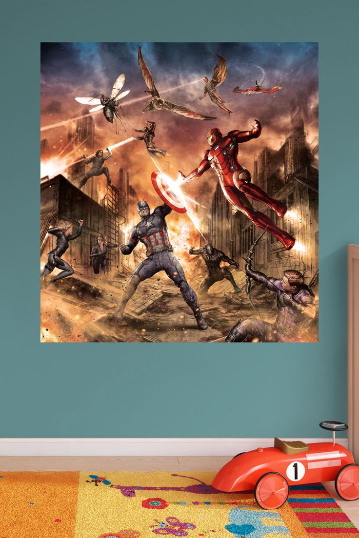 93 best images about diy superhero bedroom ideas for boys for Siege mural rabattable