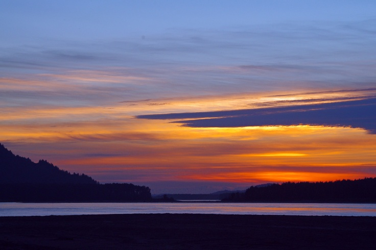 Fraser River Sunset near Chilliwack, BC - Photo by Faith Burr