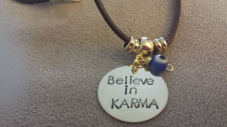 Believe in KARMA necklace, Karma and Evil Eye Protection by NRoAccessories on Etsy