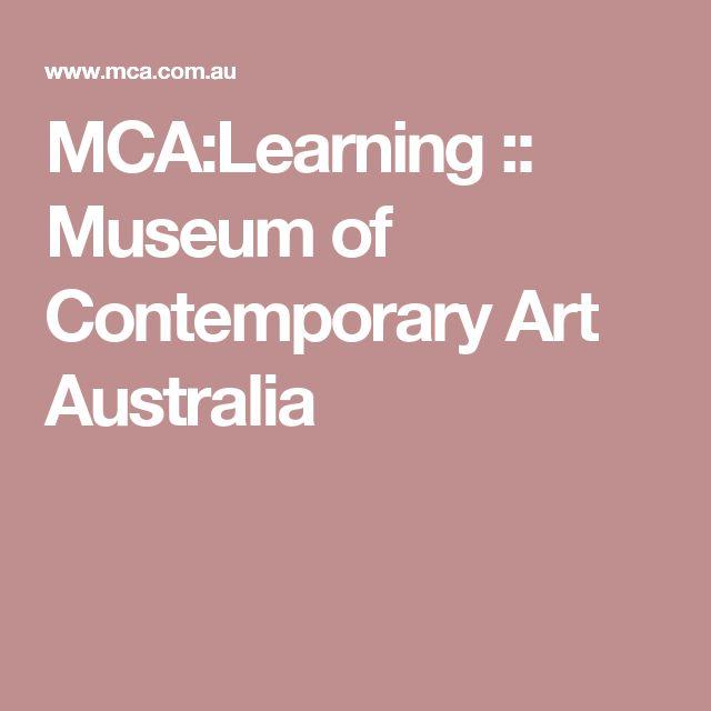 MCA:Learning :: Museum of Contemporary Art Australia