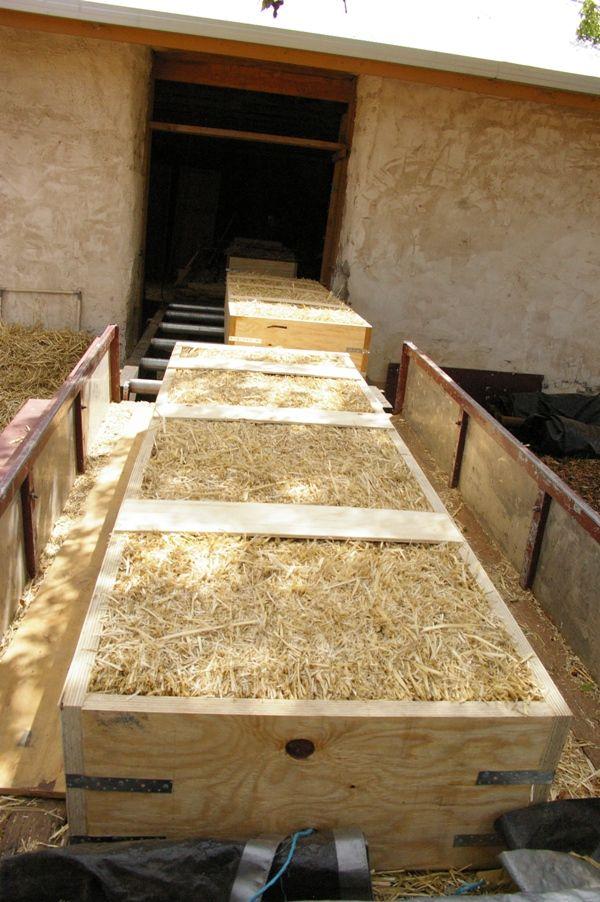 SITUPS Progress - pre-made straw bale walls