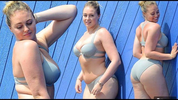 Back in a bikini! Body-positive model Iskra Lawrence slips into a two pi...