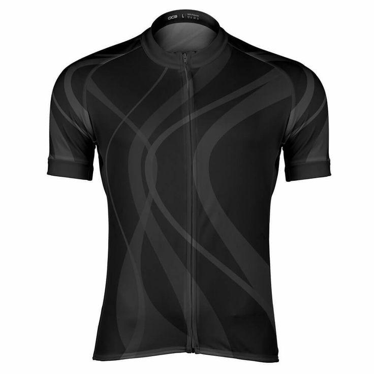Men's Winding Road Black Cycling Jersey-Online Cycling Gear