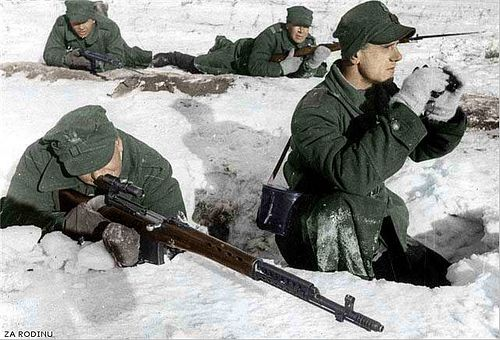Polish sniper armed with Russian SVT-40 | Recolored using Ph… | Flickr, pin by Paolo Marzioli