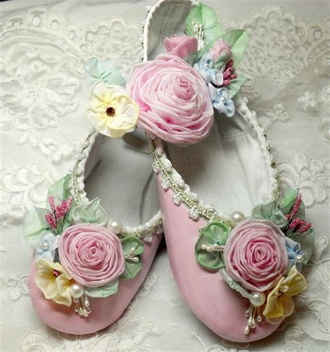 Ballet Slipper with Traditional Ribbonwork / Lambs and Ivy Designs