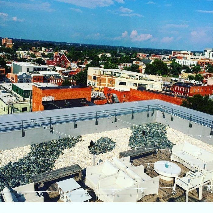 As you gaze out upon the iconic Richmond skyline, you can enjoy a specialty cocktail, craft beer, or order something from the special rooftop menu.