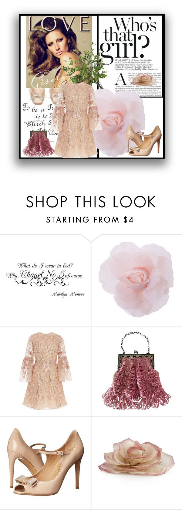"""Gisele Buchen"" by cool-cute ❤ liked on Polyvore featuring Chanel, Marchesa, Salvatore Ferragamo, Diane James and giselebuchen"