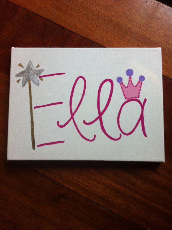 This is so cute!! Never seen anything like it :) Custom Princess canvas by SpoonfulOfSunshine on Etsy, $31.50