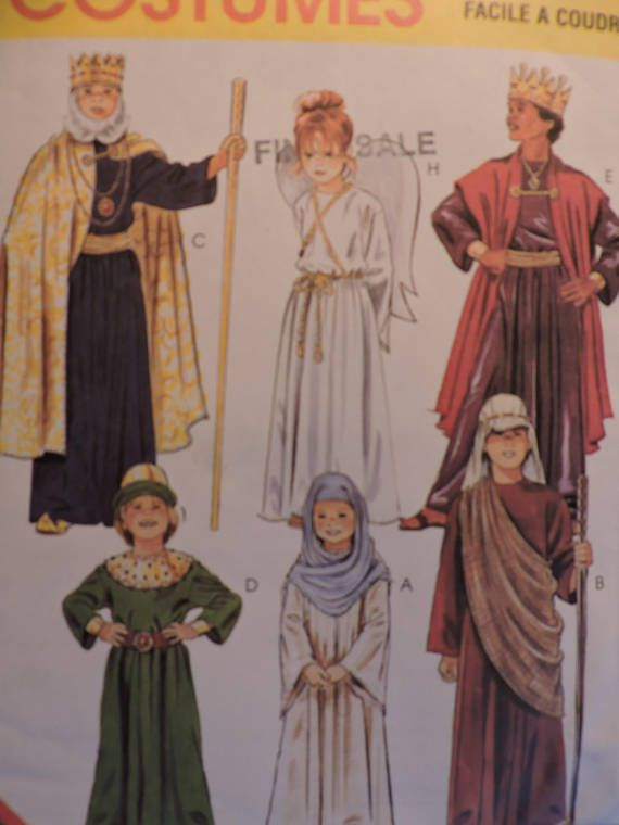 Nativity Christmas Story Costumes Child's Pageant Stage