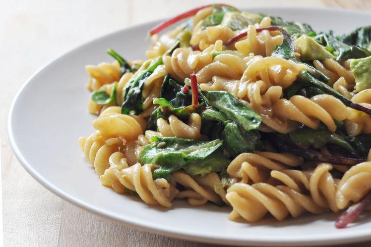 Easy Cheesy Pasta with Greens