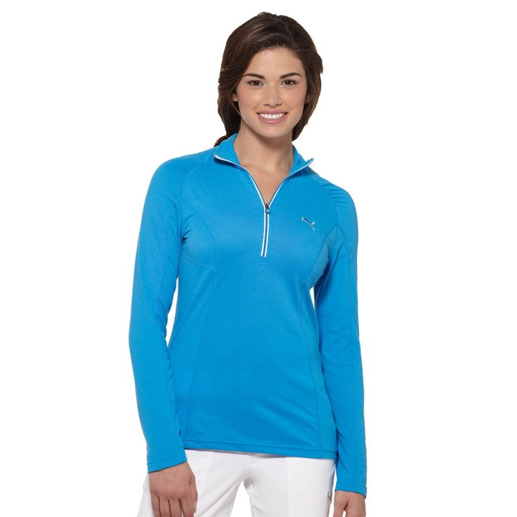 PUMA 1/4 Zip Long Sleeve Golf Top | - from the official Puma® Online Store