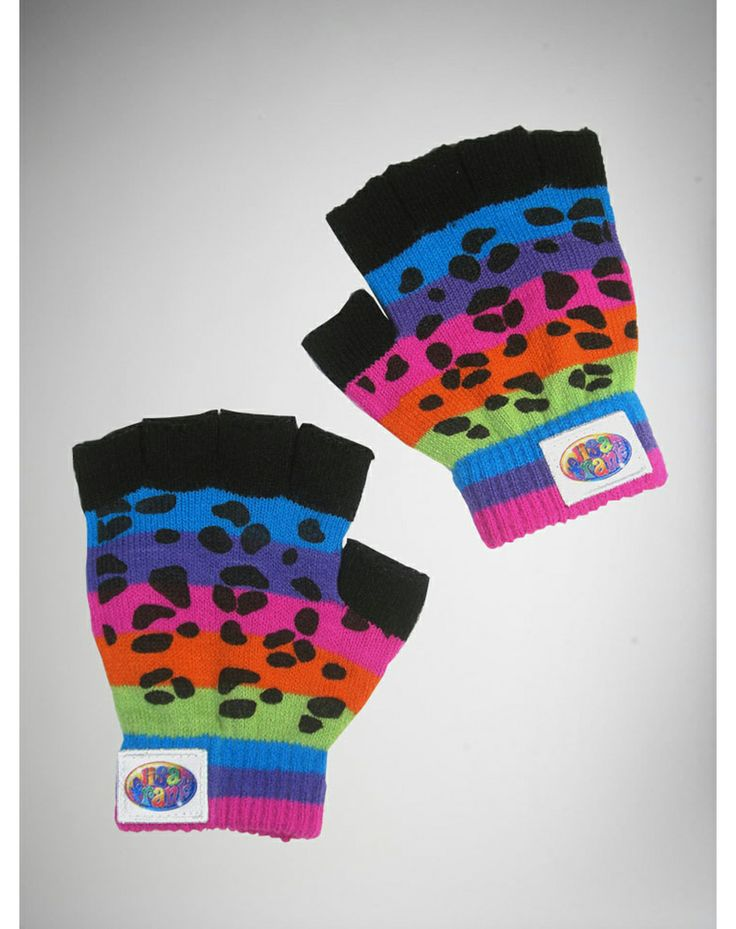 Lisa Frank Rainbow Tiger Fingerless Gloves Oh so cute. I'll take Lisa Frank shoes shirts stickers   puzzles posters penny banks