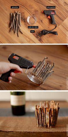 Como fazer um castiçal de outono - DIY                                                                                                                                                     Mais