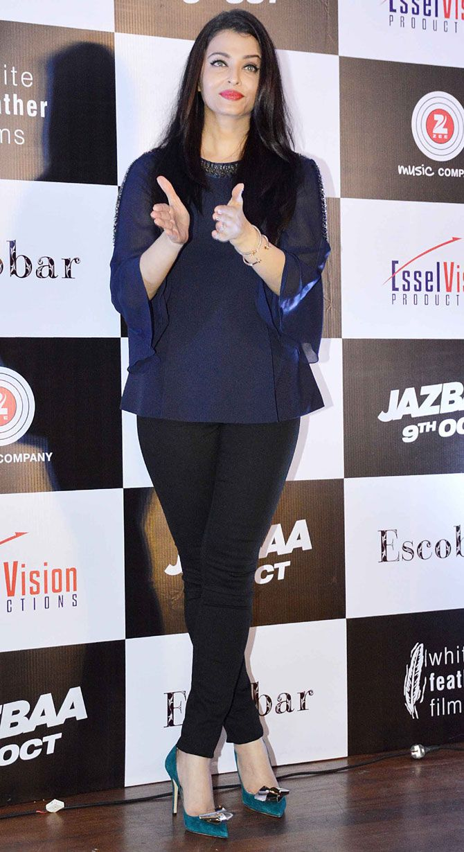 Aishwarya Rai Bachchan at the launch of song Bandeyaa from her film Jazbaa.