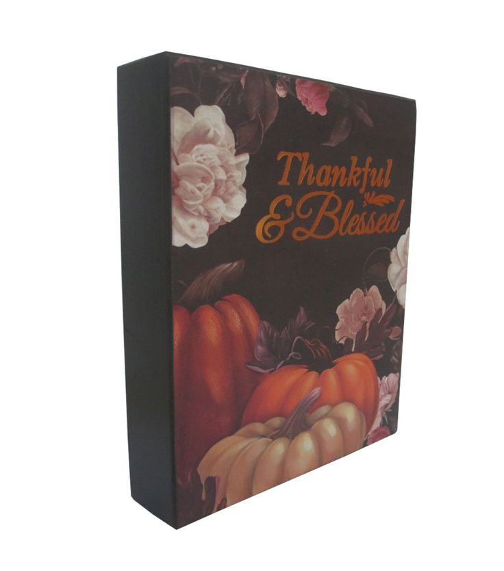 Fall Into Color Thankful And Blessed Word Block