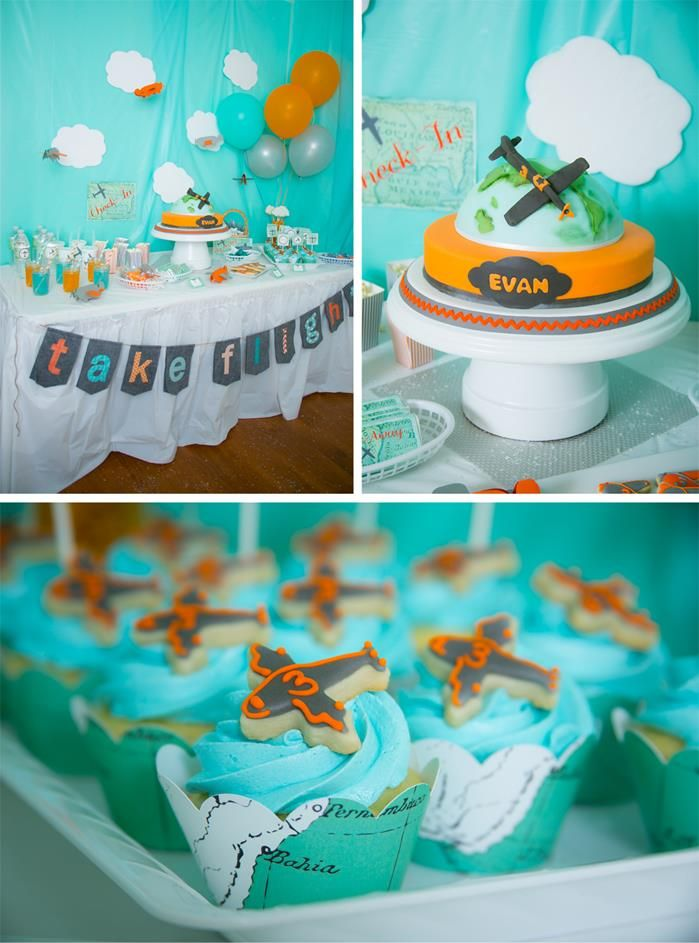158 best Airplane Party 1st Birthday Ideas images on Pinterest