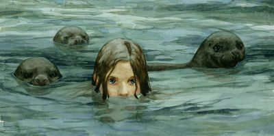 "Selkies are seals that can transform into humans to come onto land...watch ""The Secret of Roan Innish""..."