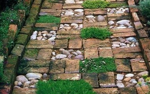 Дорожки из камня, дизайн, видео, фото