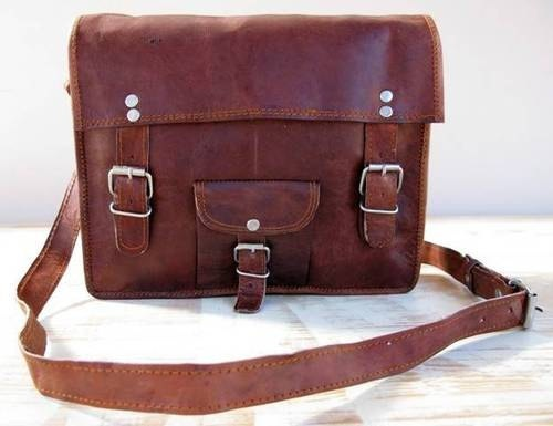 Leather Ipad Bags Tablet Macbook Messenger Bag by GenuineGoods786, $47.00