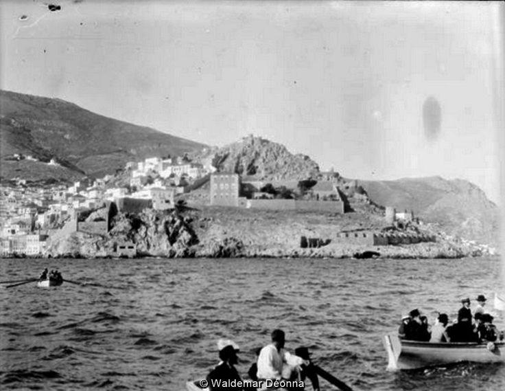 Ύδρα, η μεταφορά επιβατών του πλοίου, Ιούλιος 1906.