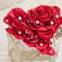 Роза валентинка