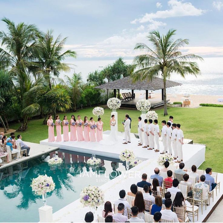 A wedding by the pool' Coordinating your decor with the elements. By…