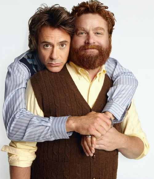 Zach Galifianakis & Robert Downey Jr