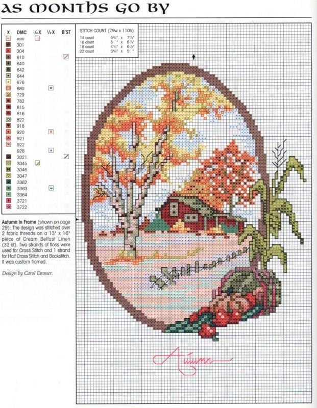 cross stitch - Fall chart