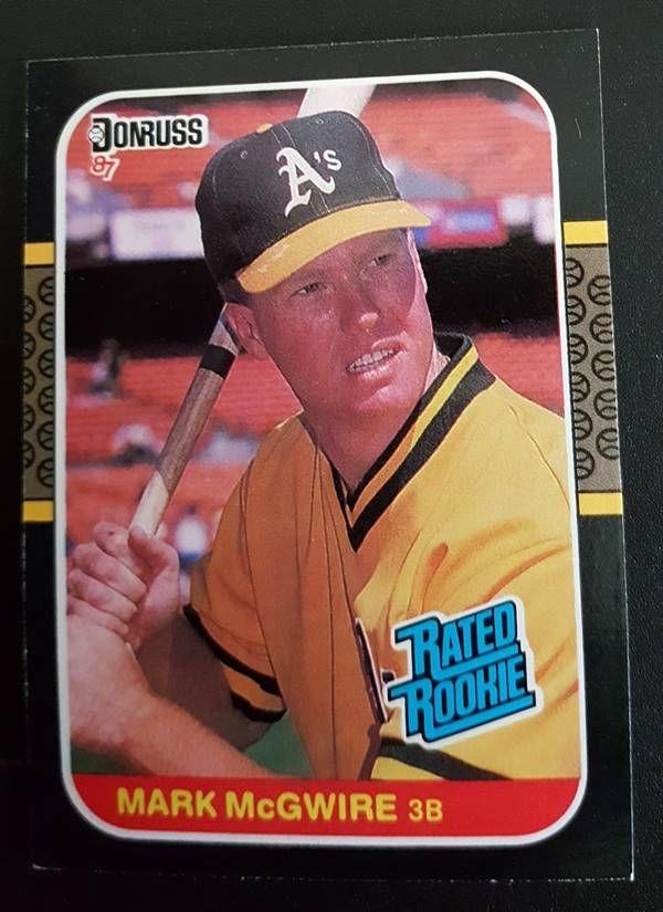 Mark Mcgwire Donruss 1987 Card 46 Oakland A S Baseball Cards Old Baseball Cards Baseball