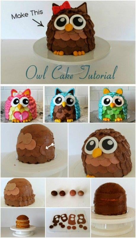 When I saw this owl cake my heart nearly melted! Those big round puppy dog eyes, the little claw-toes peeking out, the Hello Kitty bow… Isn't it a hoot? (That may not be my finest moment…) Of course I frantically started thinking of which cake shop I could call to make this for me until I read...