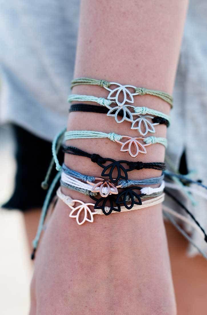 Personalized Photo Charms Compatible with Pandora Bracelets. Lotus Charms | Pura Vida Bracelets