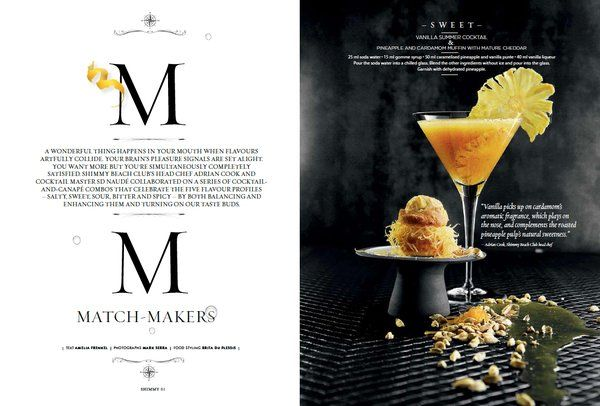 ARTICLE: Cocktail & canapé combos: salty, sweet, sour, bitter & spicy. Grab our latest #ShimmyStyle mag & read more