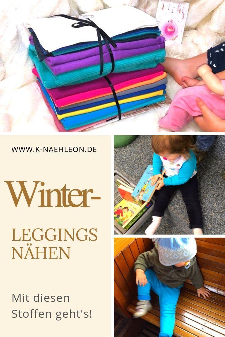 Nähen für Babys und Kinder: Coole Stoff-Tipps für das Nähen von warmen Leggings im Herbst und Winter. Mit Link zum kostenlosen Schnittmuster. Da h…