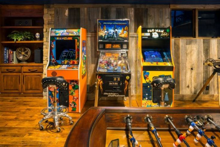 Arcade Man Cave Ideas : Epic man caves homes and hues room design the game