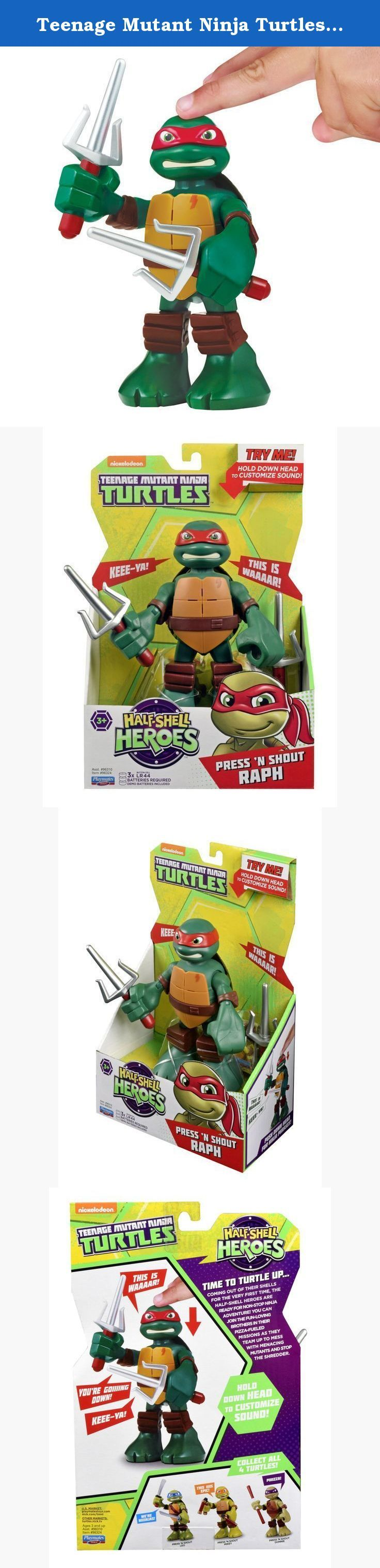 """Teenage Mutant Ninja Turtles Pre-Cool Half Shell Heroes 6"""" Raphael Powersound Talking Turtles Figure. Coming out of their shells for the very first time, the Half-Shell Heroes are ready for non-stop ninja adventure! You can join the fun-loving brothers in their pizza-fueled missions as they team up to mess with menacing mutants and stop the Shredder."""