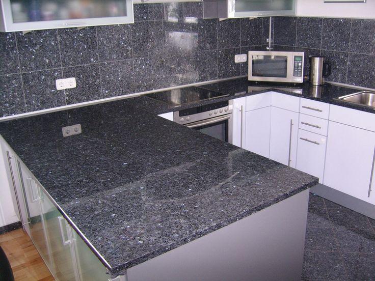Küche, grau weiß
