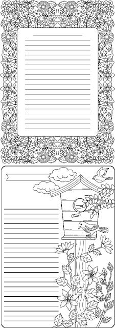 FREE coloring journal pages
