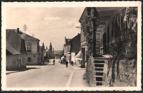 old postcard: AK Vamberk, Straßenpartie