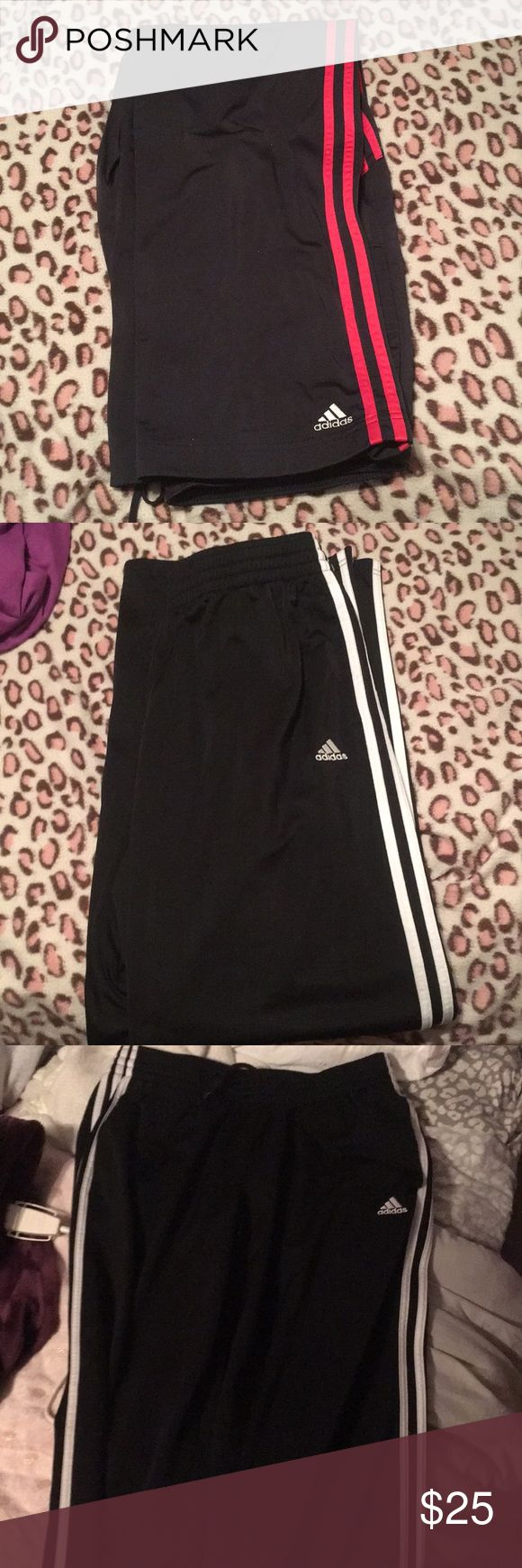 Like new 2 pairs of women's adidas track pants Like new women's adidas jogging pants 2pairs adidas Pants Track Pants & Joggers