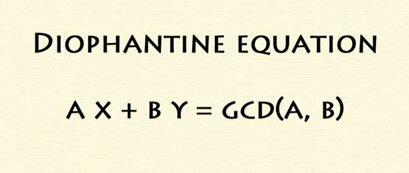 Diophantine Equation :  A tutorial   http://www.youtube.com/watch?v=FjliV5u2IVw