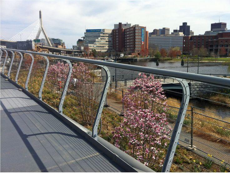 image result for pedestrian bridge rail installation