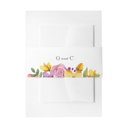 Floral Wedding Invitation Belly Bands Invitation Belly Band - flowers floral flower design unique style