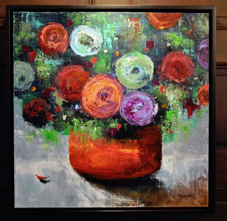 Kelly Harwood's Floral Painting, From His Gallery 202