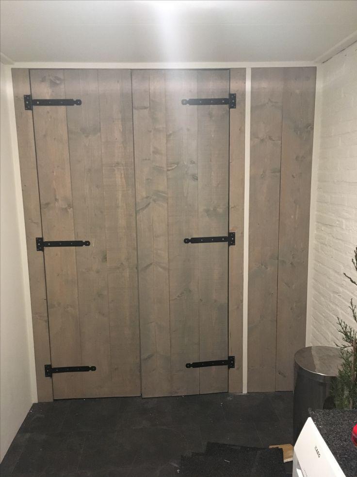 Bijkeuken Opbergkast steigerhout grey-wash