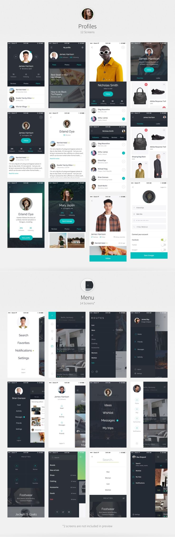 UI8 — Products — Routes iOS UI Kit