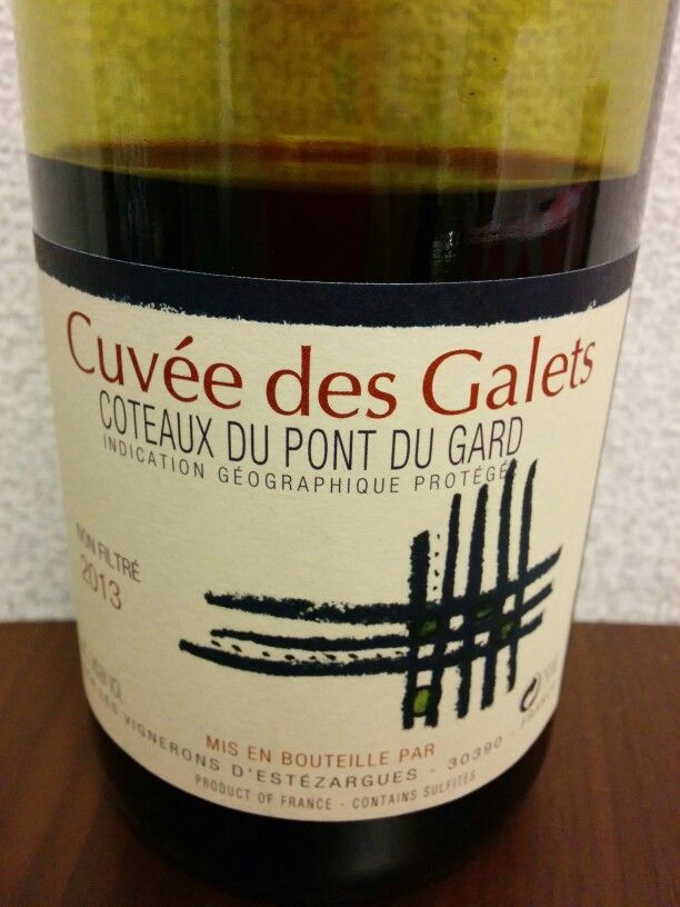 Cuvee des Galets 2013****white purple water