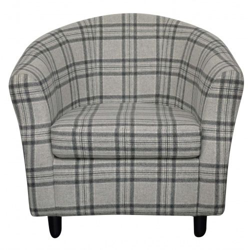 DIVA Tub Chair Finished In A Stunning Tartan Style Fabric By Moon.